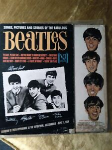 The Beatles Songs Pictures and Stories  RARE Sticker Concert Souvenir  Lp Cover