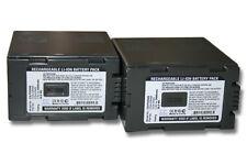 2x BATTERIA 5400mAh per Panasonic AG-HPX250, AG-HPX250P