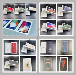 Genuine Apple iPhone PRO 12 MAX X/XS MAX 8+/8/7+/7/6+/6S,6,5 Empty Box uk Sim