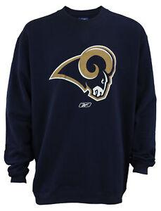 Reebok Los Angeles Rams NFL Men's Fleece Crewneck Sweatshirt, Navy XX-Large