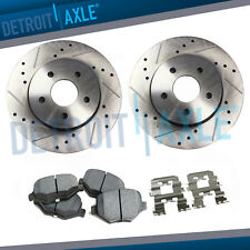 Front Drilled Slotted Disc Brake Rotor & Ceramic Pad for 2004-2009 RX330 RX400h