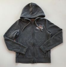 Hollister Gray Full Zip Hoodie-Sz L