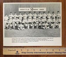 Original 1960 SEATTLE RAINIERS PCL team photo Pacific Coast League baseball