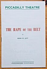 The Rape Of The Belt programme Piccadilly Theatre 1957 Veronica Turleigh