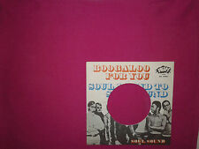 Soul Sound ‎– Boogaloo For You  - Copertina Forata Per Disco Vinile 45 Giri 7""