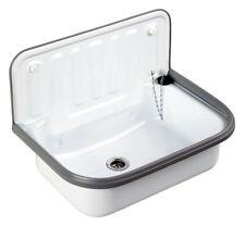 Waschbecken Ausgussbecken für außen, Garten, Keller, Waschküche, weiß