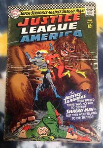 JUSTICE LEAGUE OF AMERICA #45 (1966) - DC Comics / Shaggy Man
