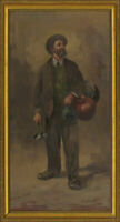 Valente (b. 1897) - Signed 20th Century Oil, Portrait of an Italian Shop Owner