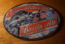 BIGMOUTH BREWING CO. BASS ALE Beer Fishing Lodge Cabin Bar Home Decor Sign NEW
