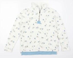 TU Womens White   Pullover Sweatshirt Size 12  - Ski Print