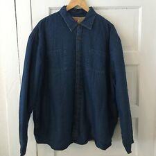 Wrangler Men's Thick Denim Shirt Jacket Plus Size 2XL Sherpa Lined Button Front
