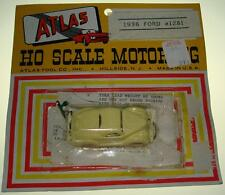 Atlas Ho Scale Motoring Slot Cars Pale Yellow 1936 Ford Coupe Carded Car #1281