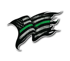 Thin Green Line Decal Sticker Soldier Veteran Army Navy Marines Military Flag