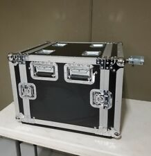 """10U Roadcase with rails on both front and back, Comes with 4"""" Casters, 18"""" Deep"""