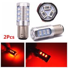 2Pcs 1157 Strobe Blinking Car Rear Alert Safety Brake Tail Stop LED Light Bulbs