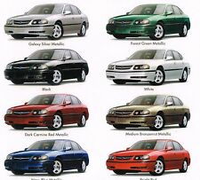 2002 Chevy IMPALA Brochure / Catalog with Color Chart: LS