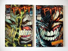 Lot de 2 PITT N°1 et N°2 de Dale KEOWN SEMIC EDITIONS 1998 et 1999