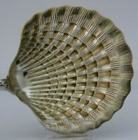STUNNING RARE FRENCH STERLING SILVER GILT SEAFOOD SERVER c1900 ANTIQUE 8.75inch