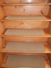 "13 Step 9""X 30"" Landing 30'' x 30'' Stair Treads WOVEN WOOL CARPET Jute Backing."