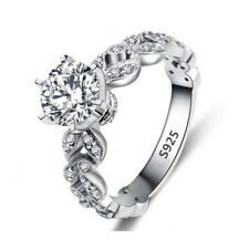 Fashion Women Round Cut Cubic Zirconia Wedding Band Engagement Ring Size 6 7 8 9