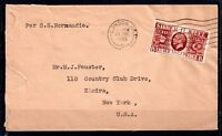 GB 1935 Silver Jubilee cover posted on SS Normandie WS7245