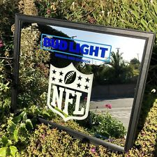 "Bud Light NFL Football Logo NFC AFC Beer Bar Mirror Man Cave Pub ""New"