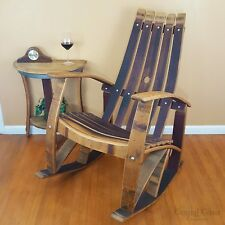 Superieur WINE BARREL Stave ROCKING CHAIR Home Rustic Furniture Patio Bar FREE  SHIPPING!