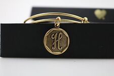 Rafaelian Gold With Tag, Box, & Card New Alex And Ani Initial H Bangle