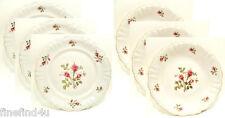 6 Pc Filler Set Soup Bowls & Cake Plates WINTERLING WILD ROSE WIG 379 or 602