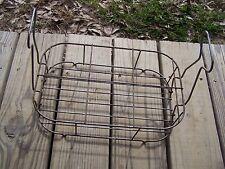 Vintage Milk or oil? 6 Bottle Carrier Wire Metal Basket Tote Holder Wine handles