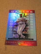 2005 Leaf Gamers #G 15 Vladimir Guerrero - Anaheim Angels #'d 130 / 175