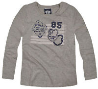 Boys T-Shirt New Kids Long Sleeved Top Cotton Grey Jumper Ages 2 3 4 5 6 7 Years