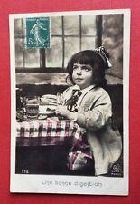 CPA. 1910. Une Bonne DIGESTION. Enfant. Repas. Petit Déjeuner.