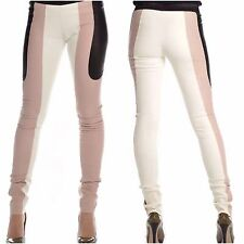 RRP 890 $DROMe in Pelle Pantaloni Leggings S MADE IN ITALY