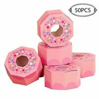 50× Donut Chocolate Candy Boxes Hexagon Box Donut Theme Birthday Party Gift Box