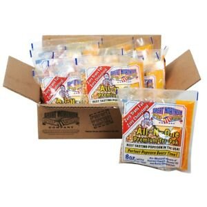 Great Northern Popcorn Premium 8 Ounce Popcorn Portion Packs, Case of 12