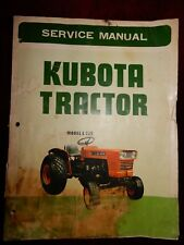 KUBOTA TRACTOR SERVICE MANUAL - ORIGINAL- model L 22 - USA