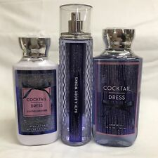Bath & Body Works COCKTAIL DRESS Body Lotion, Gel Wash & Fragrance Mist SET of 3