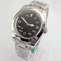 Sterile 40mm luminous Black Dial Automatic Stainless Steel Mens Wrist Watch 2777