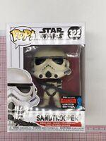 Funko Pop! Star Wars #322 Sandtrooper NYCC 2019 Fall Convention NOT MINT BOX G05