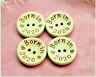 5 Natural Wooden Born in 2020 Baby Buttons 2 Hole 15/20/25 mm Sewing UK SELLER