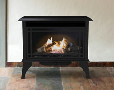 Vent Free Gas Stove Propane Natural Gas Cast Iron Fireplace Free Standing Black