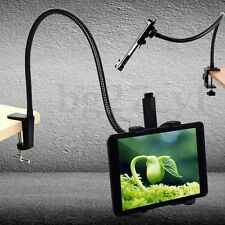 360° Rotation Flexible Desk Clamp Mount Holder Stand Bracket For iPad Table PC