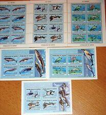 Guinea 2001 KLB 3410-21 blocco 687-89 balene tutto il mondo Whales grauwal megattera **