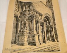 Gravure Abbaye Monastère Saint-Gilles Gard Clauzier 20e