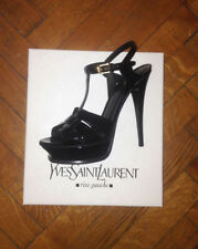 YVES SAINT LAURENT TRIBUTE PATENT PLATFORM SANDAL - NEW IN BOX!