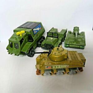 Vintage Matchbox Battle Kings 1970s Diecast Military Vehicles Lesney Lot x 4