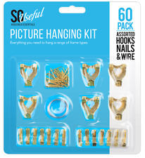 Picture Hanging Kit for Hanging Artwork Pictures Frames Hooks Nails Hanging Wire