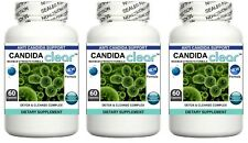3x Candida Cleanse Pills Yeast Fungus Detox Digestive Intestine & Immune Support