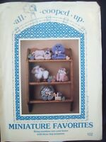 All Cooped Up Pattern 102 Miniature Stuffed Shelf Animals Becky Tuttle Uncut/FF